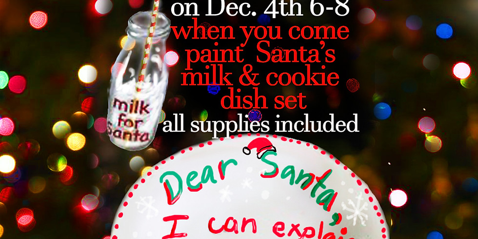 Milk and Cookie dish set for Santa