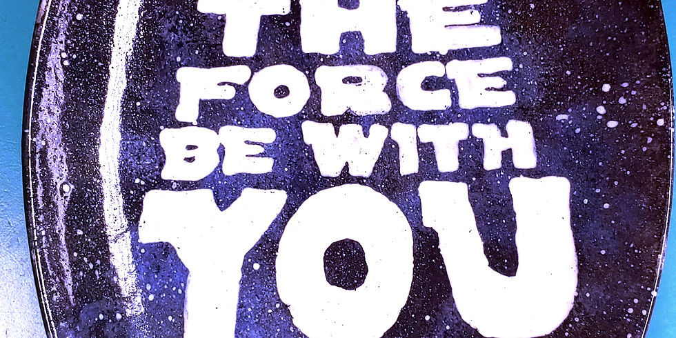 P.Y.O.P. 8 by 11 Oval Star Wars Plate