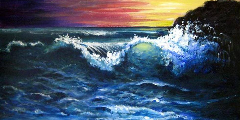 Canvas Acrylic Paint 3pm 8/28