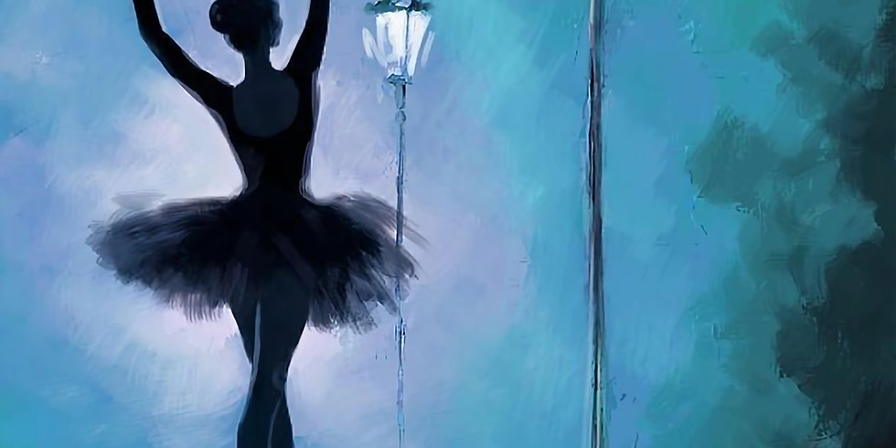 Ballet 1/16 acrylic canvas painting 11-1