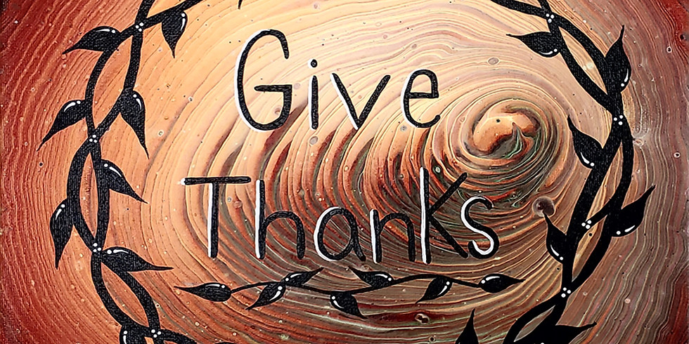 Paint Pour with Thankful embellishment