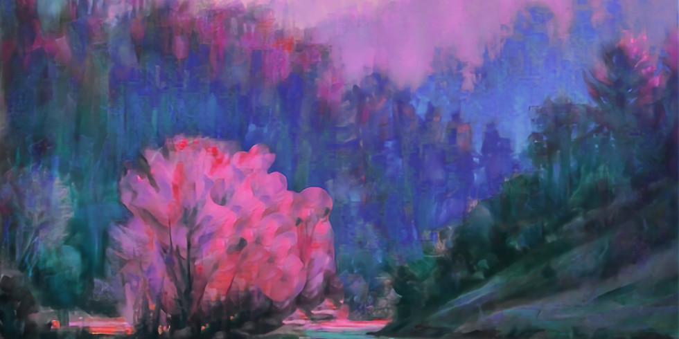 SunsetValley3/14 acrylic canvas painting Sat. 6-8