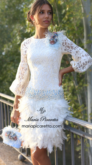 Vestido de Novia corto de María Picaretta