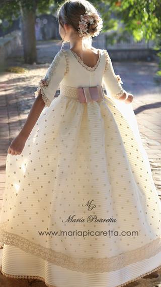 Vestido de Comunión seda