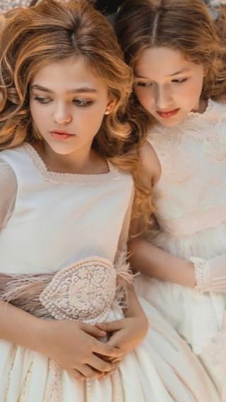 Menninas vestido de Comunión