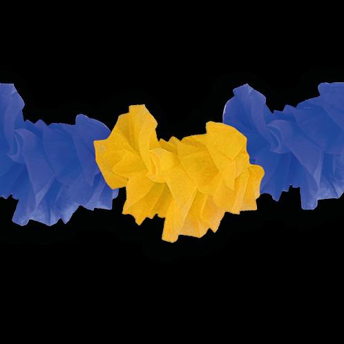 Guirnalda Hawaiana Azul y Amarillo 3 mts. x1