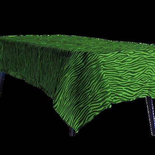 Mantel Estandar Verde Manzana Animal Print Negro