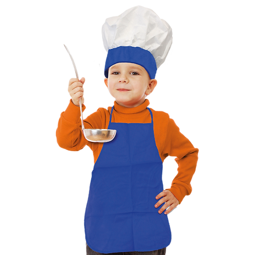 Set de Cocinero Niño Liso Azul