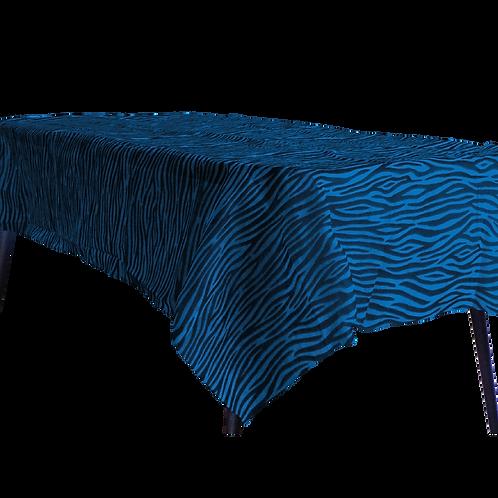 Mantel Estandar Azul Animal Print Negro