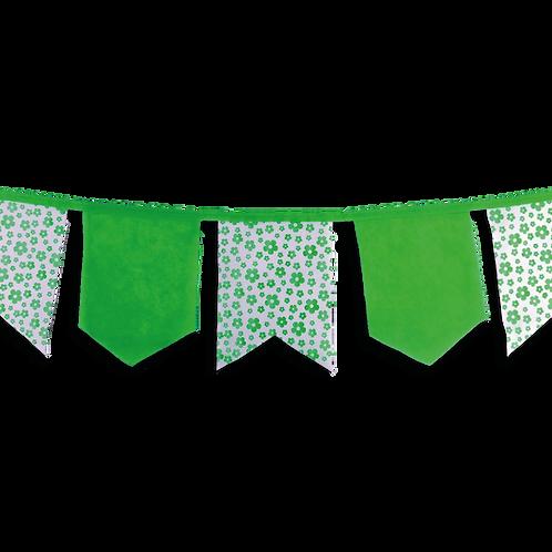 Banderin Vintage Floreado Verde x5