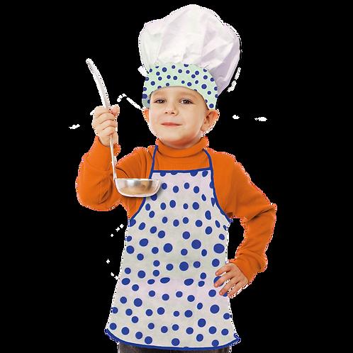 Set de Cocinero Niño Lunares Azul