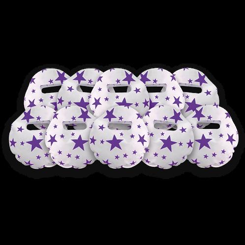 Bolsita Redonda Estrellas Violeta x10