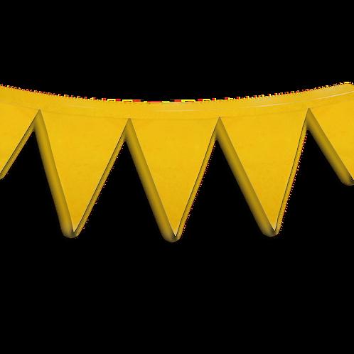 Banderin Liso Amarillo x1