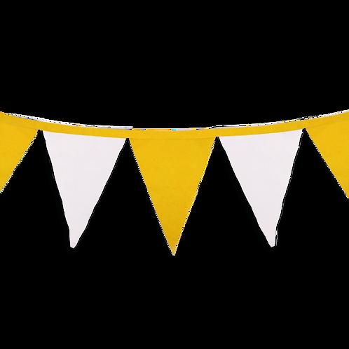Banderin Liso Amarillo y Blanco x5