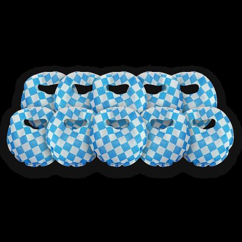 Bolsita Redonda Cuadritos Azul x10