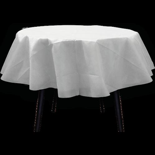 Mantel Redondo Blanco