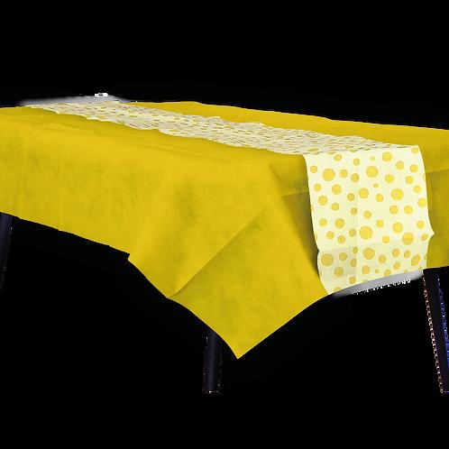 Mantel Amarillo con Camino Lunares Amarillo