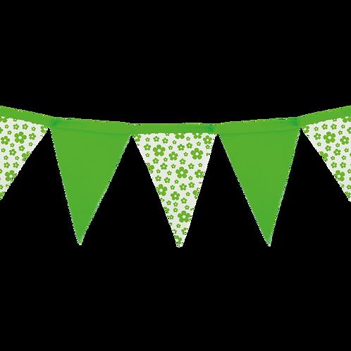 Banderín Floreado Verde x5