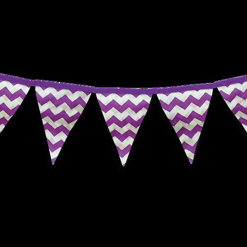 Banderin Zigzag Violeta x5