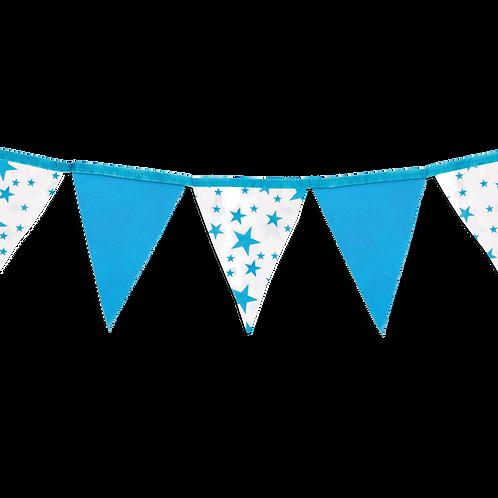 Banderin Estrellas Azul x5