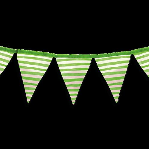 Banderin Rayas Verde x5