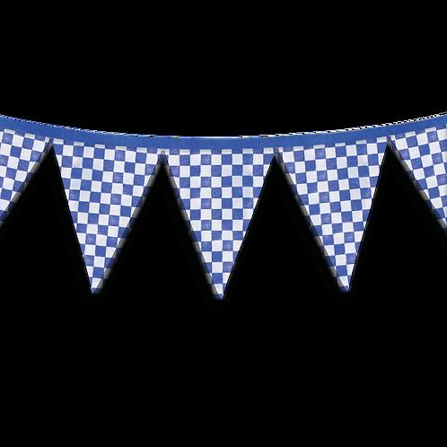 Banderin Cuadritos Azul x5