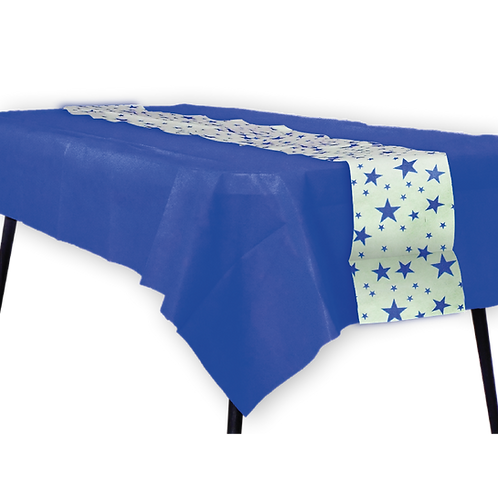 Mantel Azul con Camino Estrella Azul