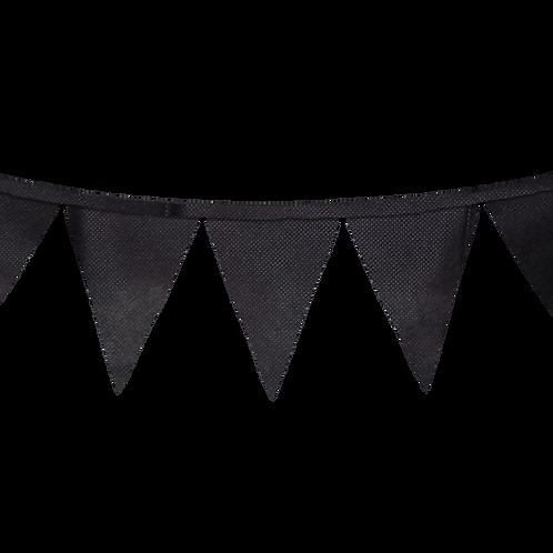 Banderin Liso Negro x5