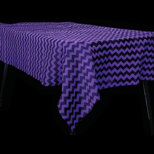 Mantel Estandar Violeta Zigzag Negro