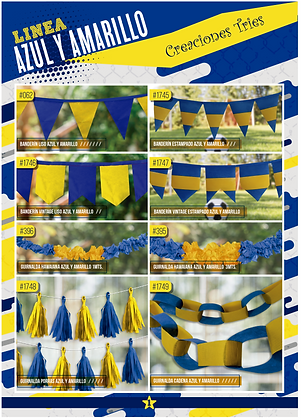 Catalogo azul y amarillo Creaciones Tries