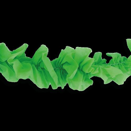 Guirnalda Hawaiana Lisa Verde Brillante 3 mts. x1