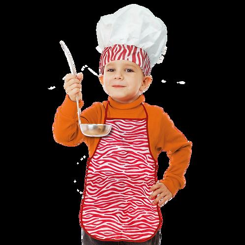 Set de Cocinero Niño Animal Rojo