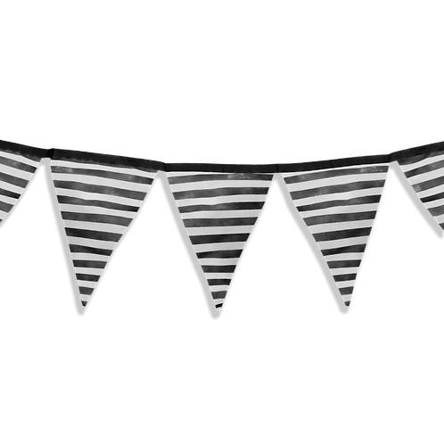 Banderin Rayas Negro x5