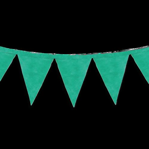 Banderin Liso Verde x5