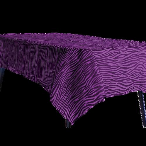 Mantel Estandar Violeta Animal Print Negro