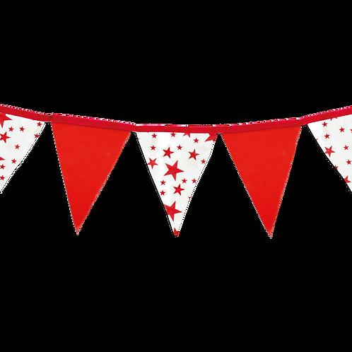 Banderin Estrellas Rojo x5
