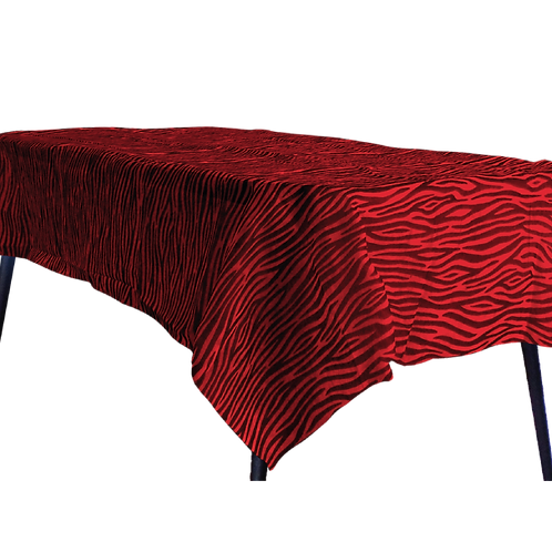 Mantel Estandar Rojo Animal Print Negro
