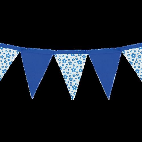 Banderín Floreado Azul x1