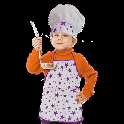 Set de Cocinero Niño Estrella Violeta