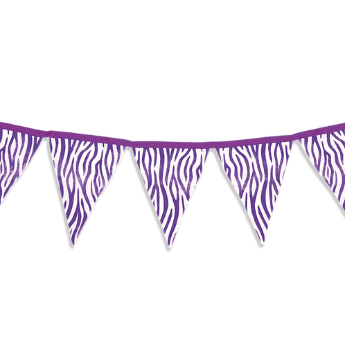 Banderin Animal Print Violeta x5