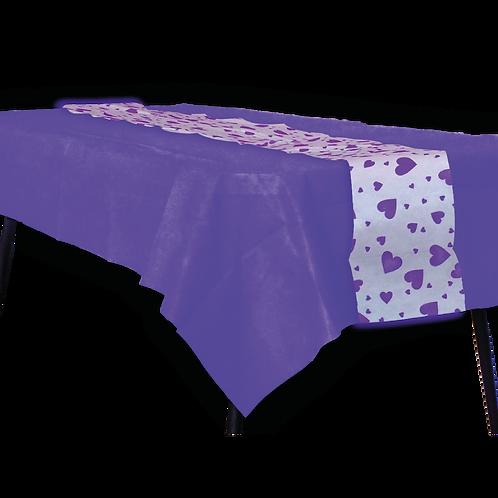 Mantel Violeta con Camino Corazon Violeta