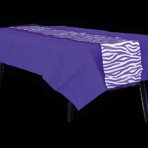 Mantel Violeta con Camino Animal Print Violeta
