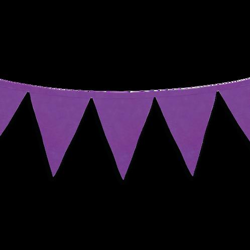 Banderin Liso Violeta x5