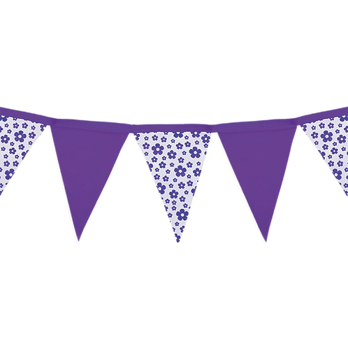 Banderín Floreado Violeta x5