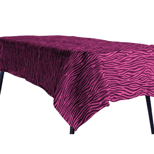 Mantel Estandar Fucsia Animal Print Negro