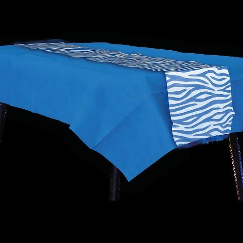 Mantel Azul con Camino Animal Print Azul