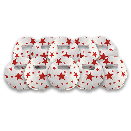 Bolsita Redonda Estrellas Rojo x10