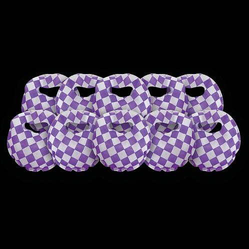 Bolsita Redonda Cuadritos Violeta x10