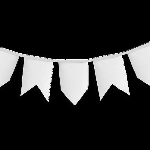 Banderín Vintage Liso Blanco x5