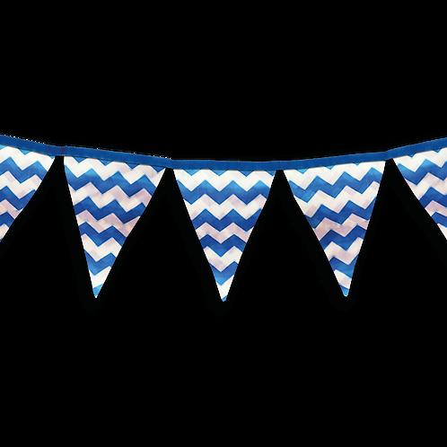 Banderin Zigzag Azul x5